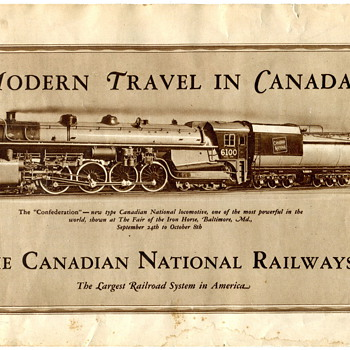 Canadian National Railway 1927 Brochure - Railroadiana
