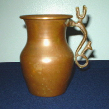 Brass Tankard with Dragon Handle