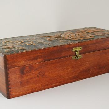Wood Jewelry Box with Metal Overlay?  - Fine Jewelry