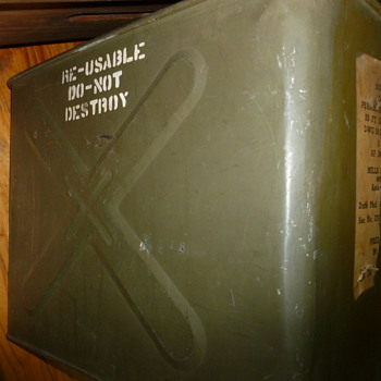 Vintage Military Parachute Container - Military and Wartime