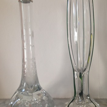 Interesting feet - controlled bubble and pulled feet - 2 of 2 - Art Glass