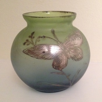Goldberg? Bowl with butterfly - Art Glass