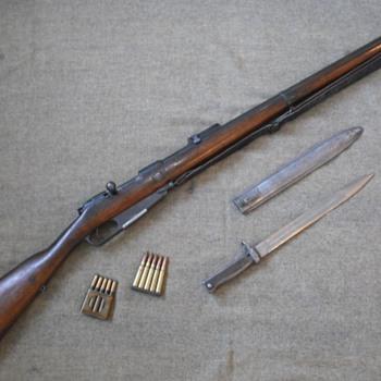 German Reichsgewehr Model 1888 Rifle - Military and Wartime