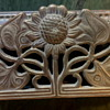 An Old Brass Stamp Box