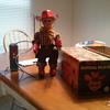 1957 Japan made Marshal Wild Bill tin toy still works