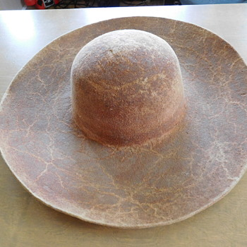 """Hand formed,  """"Boss of the Plains"""" Style Hats  (2)   1800s?"""
