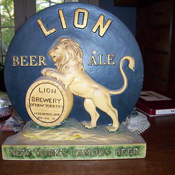 I think ceramic beer advertisment