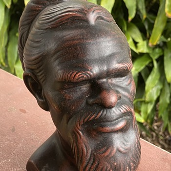 Takacs Ceramic  Aboriginal Warrior bust - Fine Art