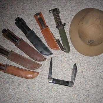 WW II combat knives