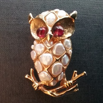 Swoboda owl brooch  - Animals