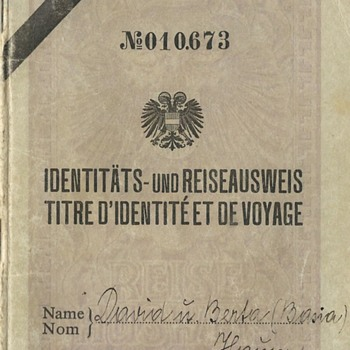 1936 Austrian Stateless passport (Travel ID)