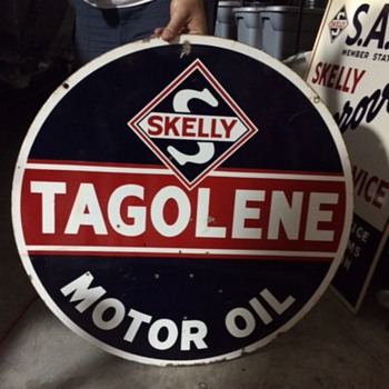 Skelly Tagolene Sign