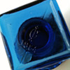 IMPERIAL GLASS COBALT BLUE TROPHY OPEN SALT/TOOTHPICK HOLDER
