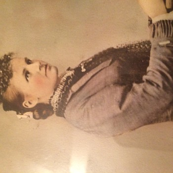 Sunday Flea Market Find Victorian Lsdy Photograph - Photographs