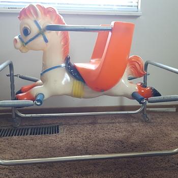 Vintage Plastic Spring Horse