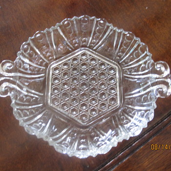 relish dish with hobnail and ball patterns - Glassware