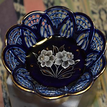 Tiny Blue Dish - ?? - Pottery