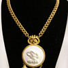 Vintage Pauline Rader Victorian Cameo with Drops Necklace