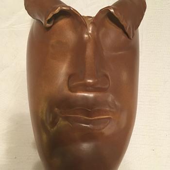 Modern Chinese Human Face Vase - Asian