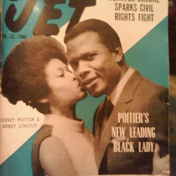 Jet Magazine from 1968 cover Sidney Poitier and Abbey Lincoln - Paper