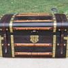 1855 to 1865 Brass bound  Jenny Lind, original leather.