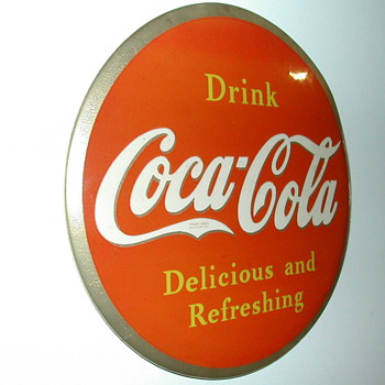 Celluloid Coke Sign - Coca-Cola