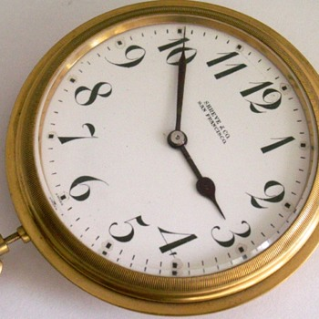 Car Clock, Shreve & Co. San Francisco - Pocket Watches