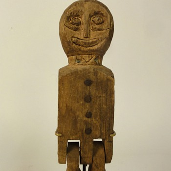 Carved Wooden Folk Art Articulated Dancing Man Limberjack Collection Jim Linderman - Folk Art