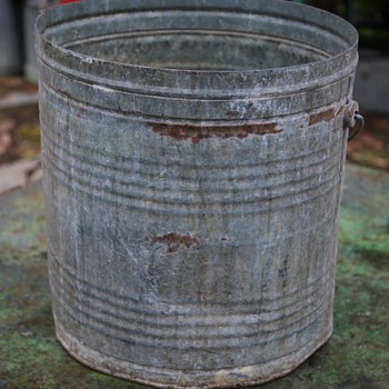 Large Industrial Bucket converted to a planter - Tools and Hardware