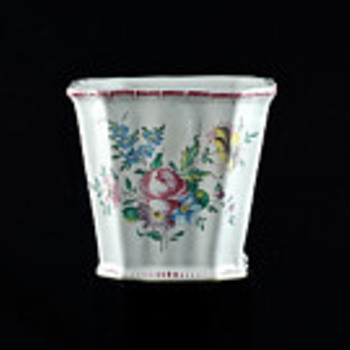 French Faience Cachepot - Pottery