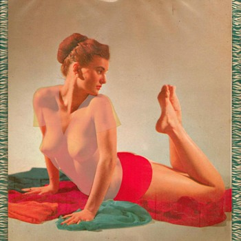 "1957 - ""Risqué"" Garage-type Pin-up Calender - Advertising"