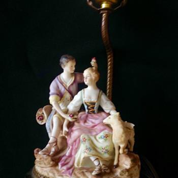 Porcelain figurine lamp  - Lamps