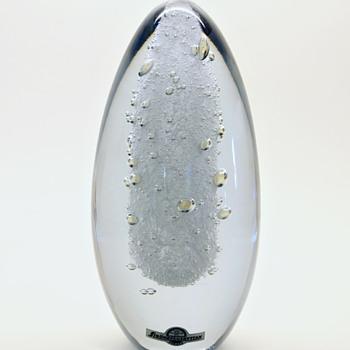 Elipse and vase/bowl by Asta Strömberg - Strömbergshyttan - ca 1970. - Art Glass