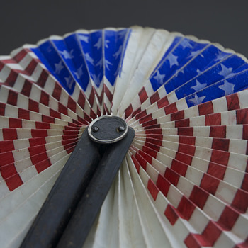 American flag round hand fan - Accessories