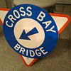 Cross Bay Bridge shield sign
