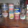Old containers and tins