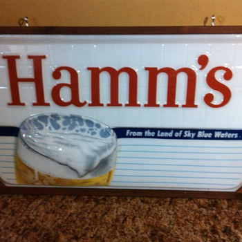 Hamms Beer Sign 3' x 5' - Breweriana
