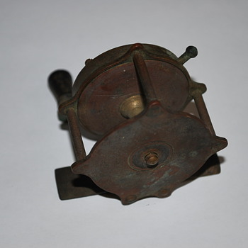 Antique Brass Fishing Reel
