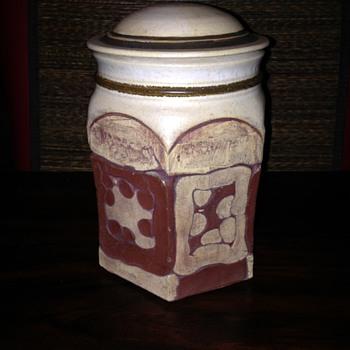 Brutalist Lidded Jar - Pottery