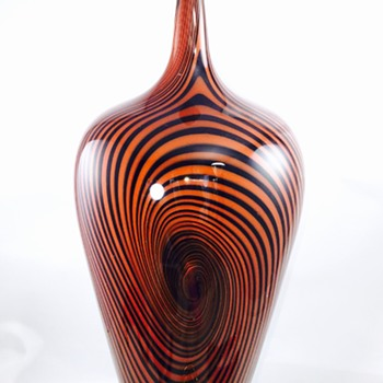 "Jeff Holmwood? Vortex Art Glass Vase Unsigned 14.25"" Tall"