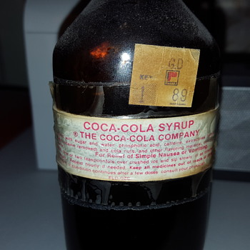 Coca-Cola Syrup Bottle 3oz The Coca Cola Company