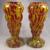 Welz Maybe? Spatter Glass Vases