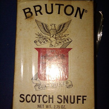 Bruton Scotch Snuff box - Tobacciana