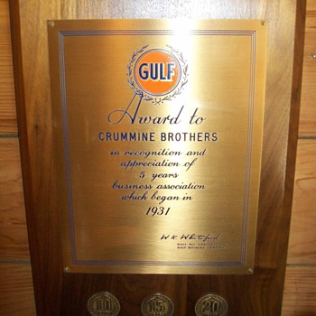 Gulf award - Petroliana