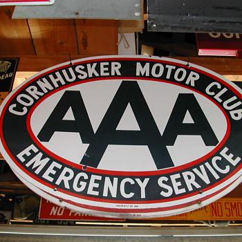 CORNHUSKER A.A.A. SIGN - Signs