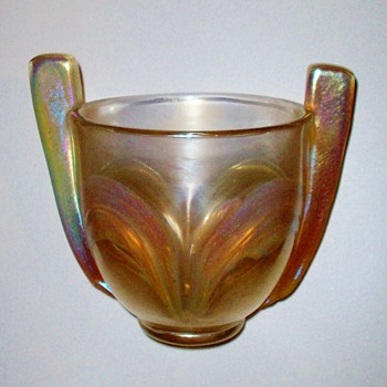Loetz Paddle Handled Coupe - Art Glass