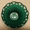 Imperial Glass Stiegel Green Glass Lace Edge Bowel