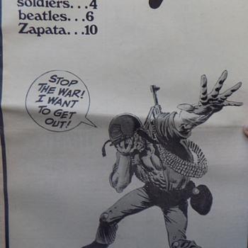 1970 San Jose RED EYE Anti--Vietnam Underground Newspaper - Paper