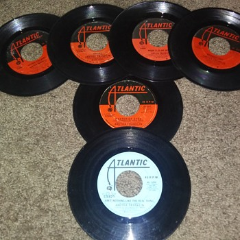 Aretha Franklin...On Six 45 RPM Vinyl Discs - Records