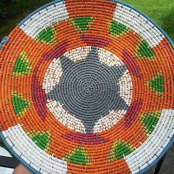 Weaved Bowl -- From COPPER WIRE - Folk Art